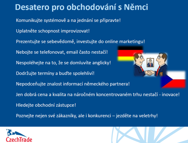 Německo  Základní podmínky pro uplatnění českého zboží na trhu ... 47c247a089c